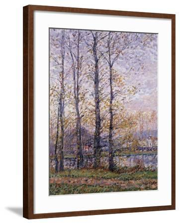 The Banks of the Oise at Precy; Les Bords De L'Oise a Precy-Gustave Loiseau-Framed Giclee Print