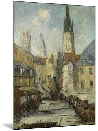 Rue De L'Epicerie Et La Cathedrale De Rouen, C.1929-Gustave Loiseau-Mounted Giclee Print