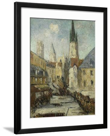 Rue De L'Epicerie Et La Cathedrale De Rouen, C.1929-Gustave Loiseau-Framed Giclee Print