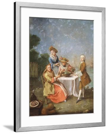 In Gardens of Estuary, 1760-1770-Pietro Longhi-Framed Giclee Print