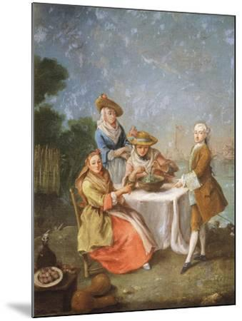 In Gardens of Estuary, 1760-1770-Pietro Longhi-Mounted Giclee Print