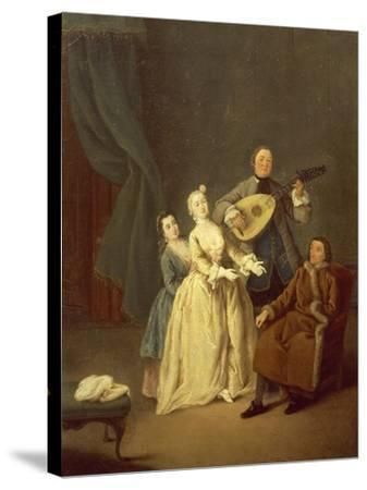 The Concerto or the Family in Concert, 1752-Pietro Longhi-Stretched Canvas Print