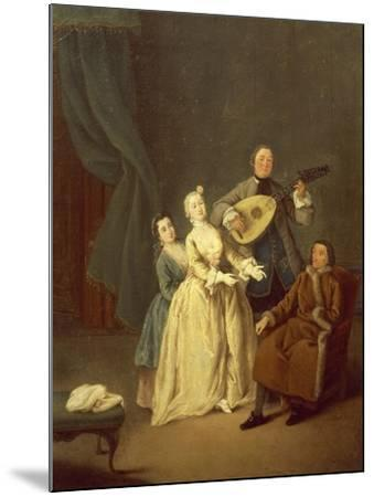 The Concerto or the Family in Concert, 1752-Pietro Longhi-Mounted Giclee Print