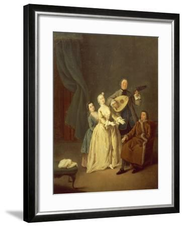 The Concerto or the Family in Concert, 1752-Pietro Longhi-Framed Giclee Print