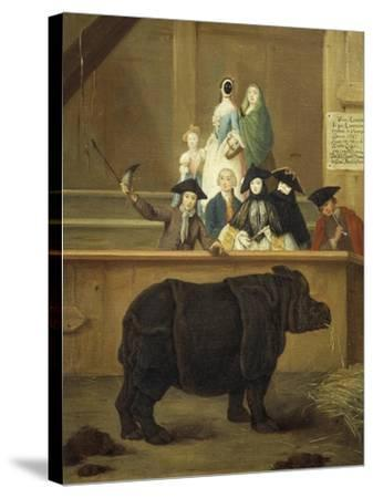 The Exhibition of the Rhino, 1751-Pietro Longhi-Stretched Canvas Print