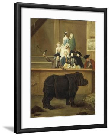 The Exhibition of the Rhino, 1751-Pietro Longhi-Framed Giclee Print