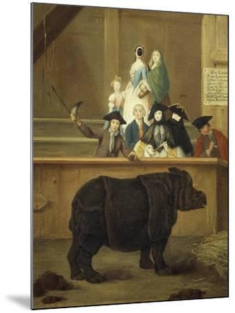 The Exhibition of the Rhino, 1751-Pietro Longhi-Mounted Giclee Print