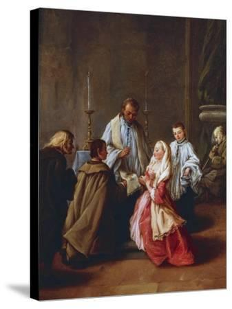 The Seven Sacraments: Marriage, before 1755-57-Pietro Longhi-Stretched Canvas Print