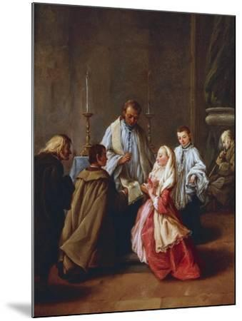 The Seven Sacraments: Marriage, before 1755-57-Pietro Longhi-Mounted Giclee Print