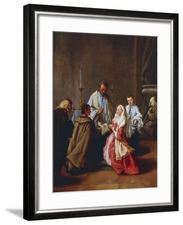 The Seven Sacraments: Marriage, before 1755-57-Pietro Longhi-Framed Giclee Print