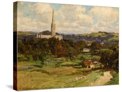 Distant View with the Downs in the Background, 1906-Joseph Longhurst-Stretched Canvas Print