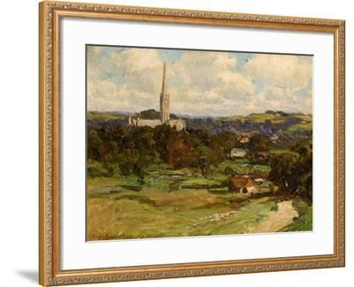 Distant View with the Downs in the Background, 1906-Joseph Longhurst-Framed Giclee Print