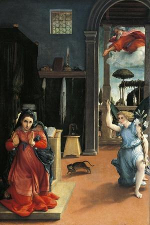 The Recanati Annunciation, Circa 1532-Lorenzo Lotto-Stretched Canvas Print