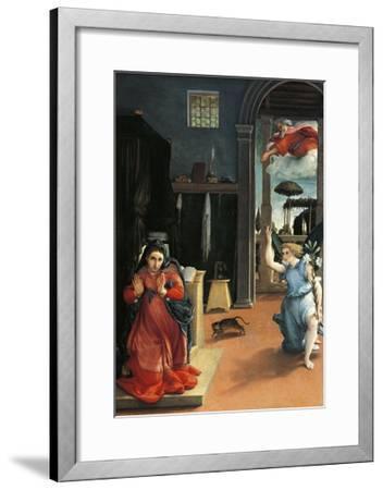 The Recanati Annunciation, Circa 1532-Lorenzo Lotto-Framed Giclee Print