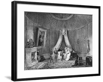 Death of Joséphine De Beauharnais on 29th May 1814, 1829-Jean Louis Tirpenne-Framed Giclee Print