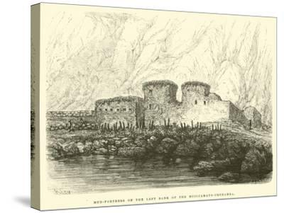 Mud-Fortress on the Left Bank of the Huilcamayo-Urubamba-?douard Riou-Stretched Canvas Print
