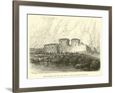 Mud-Fortress on the Left Bank of the Huilcamayo-Urubamba-?douard Riou-Framed Giclee Print