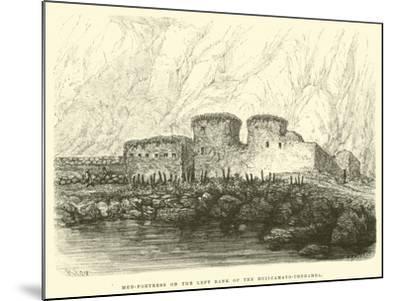 Mud-Fortress on the Left Bank of the Huilcamayo-Urubamba-?douard Riou-Mounted Giclee Print