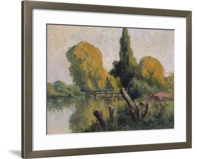 Rolleboise, Small Arm of the Seine in Autumn, C.1925-Maximilien Luce-Framed Giclee Print