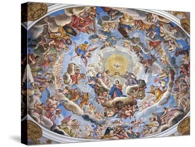 Coronation of the Virgin-Giuseppe Mattia Borgnis-Stretched Canvas Print