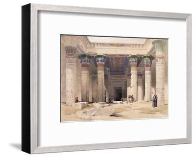 Grand Portico of the Temple of Philae - Nubia, 1842-1849-David Roberts-Framed Giclee Print