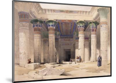 Grand Portico of the Temple of Philae - Nubia, 1842-1849-David Roberts-Mounted Giclee Print