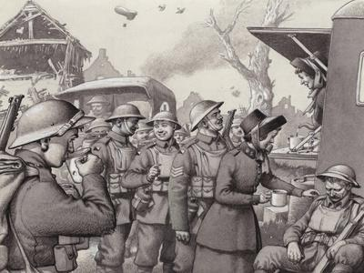Women from the Salvation Army During the Great War-Pat Nicolle-Framed Giclee Print