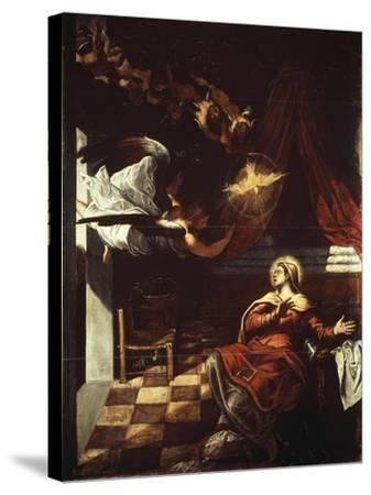 Annunciation, 1582-1587-Jacopo Robusti-Stretched Canvas Print