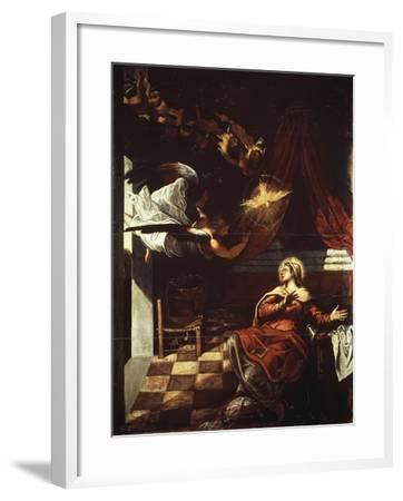 Annunciation, 1582-1587-Jacopo Robusti-Framed Giclee Print