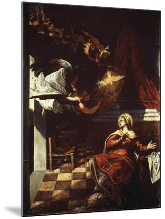 Annunciation, 1582-1587-Jacopo Robusti-Mounted Giclee Print