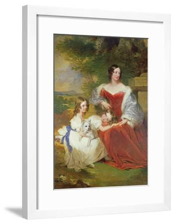 T32011 Portrait of Mrs Sarah Frances Cooper and Her Daughters-Frederick Richard Say-Framed Giclee Print