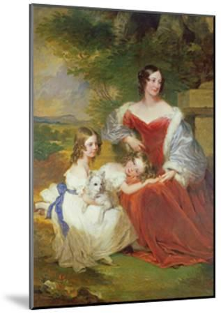 T32011 Portrait of Mrs Sarah Frances Cooper and Her Daughters-Frederick Richard Say-Mounted Giclee Print