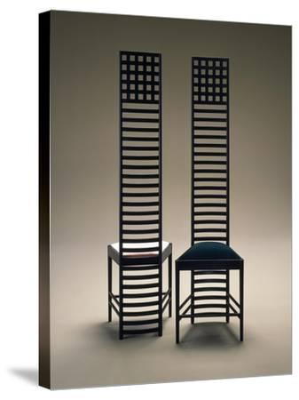 Hill House Chairs, 1903-1905-Charles Rennie Mackintosh-Stretched Canvas Print