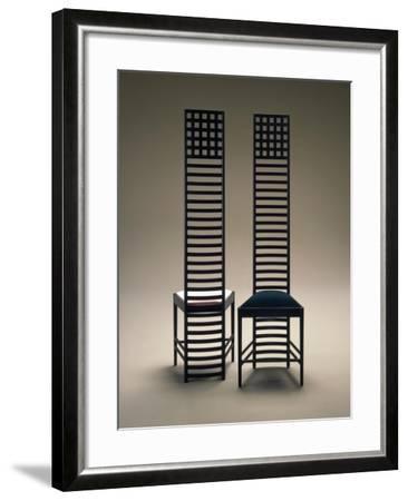 Hill House Chairs, 1903-1905-Charles Rennie Mackintosh-Framed Giclee Print