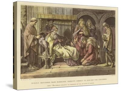 Harold, Returned from Normandy, Presents Himself to Edward the Confessor-Daniel Maclise-Stretched Canvas Print