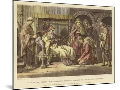 Harold, Returned from Normandy, Presents Himself to Edward the Confessor-Daniel Maclise-Mounted Giclee Print