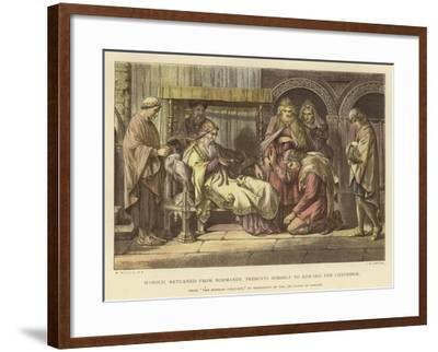 Harold, Returned from Normandy, Presents Himself to Edward the Confessor-Daniel Maclise-Framed Giclee Print