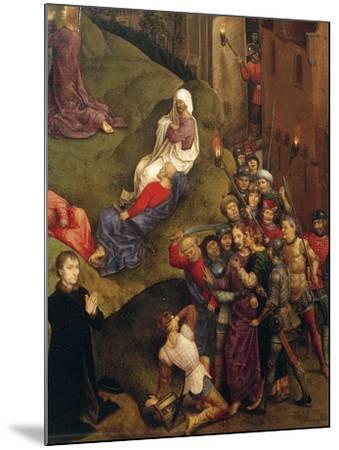 Kiss of Judas, Detail from Passion of Christ, 1471-Hans Memling-Mounted Giclee Print