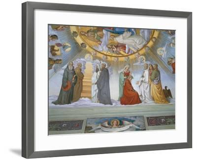 Scene from 'The Heavens of the Blessed and the Empyrean', Dante Room-Philipp Veit-Framed Giclee Print