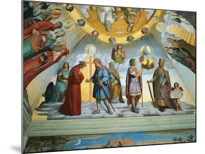 Scene from 'The Heavens of the Blessed and the Empyrean', Dante Room-Philipp Veit-Mounted Giclee Print