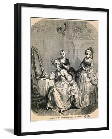 The Boudoir of a Parisian Lady in the Last Century, 1789--Framed Giclee Print