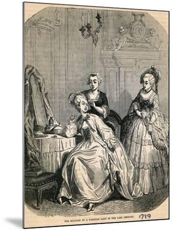 The Boudoir of a Parisian Lady in the Last Century, 1789--Mounted Giclee Print