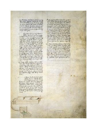 Hydraulic Studies, from Codex Ashburnham 361-Leonardo da Vinci-Framed Giclee Print