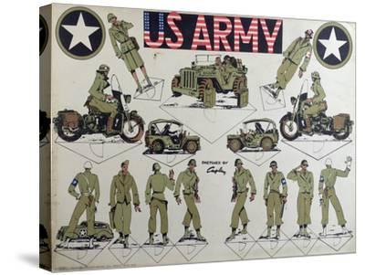 Cut-Outs of Us Army Figures and Vehicles, C.1944-45--Stretched Canvas Print