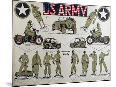 Cut-Outs of Us Army Figures and Vehicles, C.1944-45--Mounted Giclee Print
