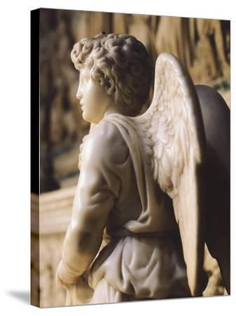 Angel Candelabra for the Ark of St Dominic-Michelangelo Buonarroti-Stretched Canvas Print
