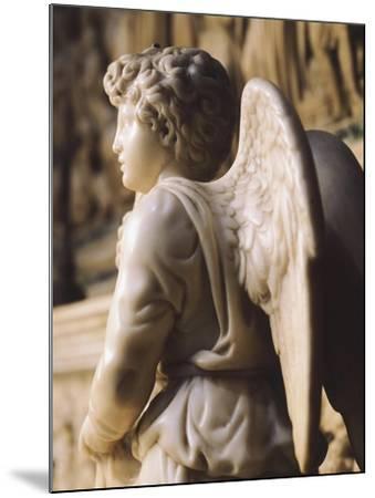 Angel Candelabra for the Ark of St Dominic-Michelangelo Buonarroti-Mounted Giclee Print