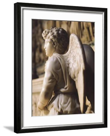 Angel Candelabra for the Ark of St Dominic-Michelangelo Buonarroti-Framed Giclee Print