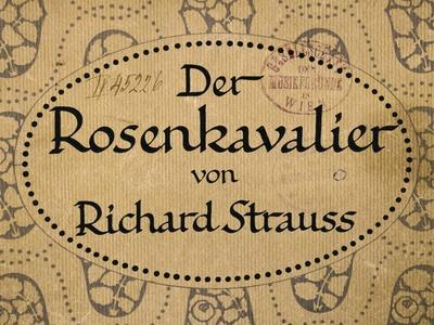 Title Page of Berlin Edition of Knight of Rose-Richard Strauss-Framed Giclee Print