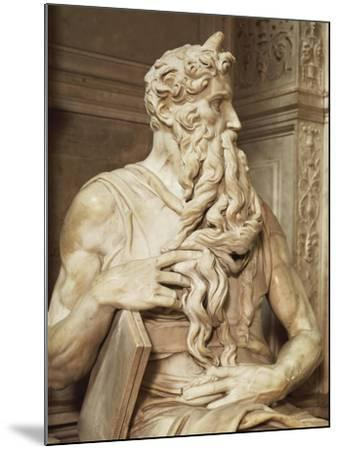 Moses, Detail from the Tomb of Julius II, Circa 1515-Michelangelo Buonarroti-Mounted Giclee Print